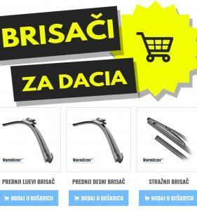 Dacia Logan Brisači (Metlice Brisača) + Stražnji Brisač