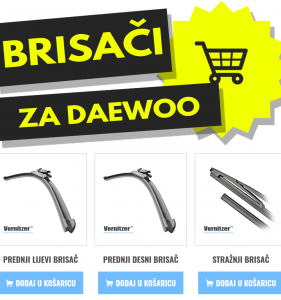 Daewoo Leganza Brisači (Metlice Brisača) + Stražnji Brisač