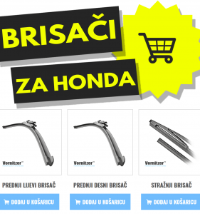 Honda Stream Brisači (Metlice Brisača) + Stražnji Brisač