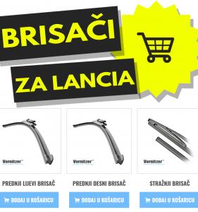 Lancia Phedra Brisači (Metlice Brisača) + Stražnji Brisač